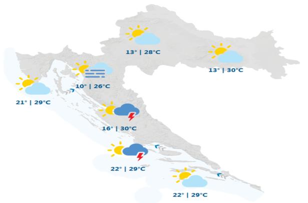 DHMZ: I danas nas očekuje sunčano i toplo vrijeme